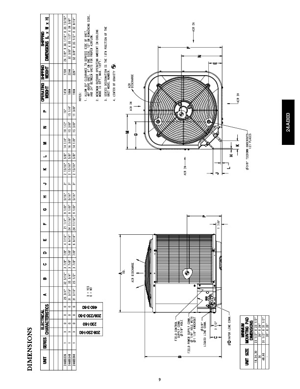 Carrier 24abb 3 1pd Heat Air Conditioner Manual