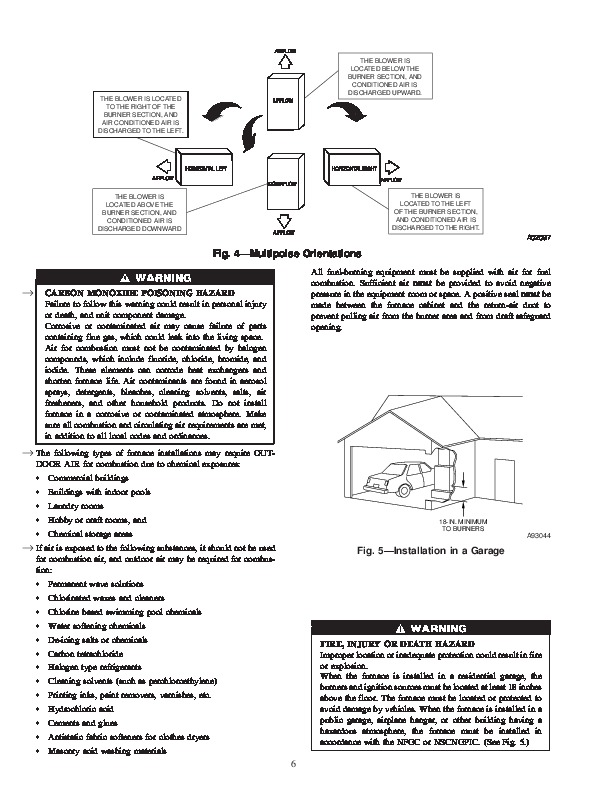 Carrier 58DL 5SI Gas Furnace Owners Manual
