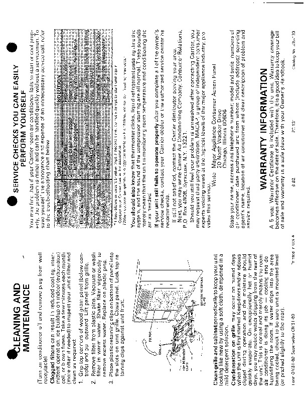 Carrier 51 89 Heat Air Conditioner Manual
