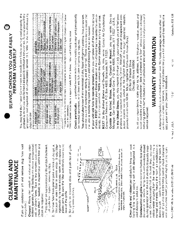 Carrier 51 98 Heat Air Conditioner Manual