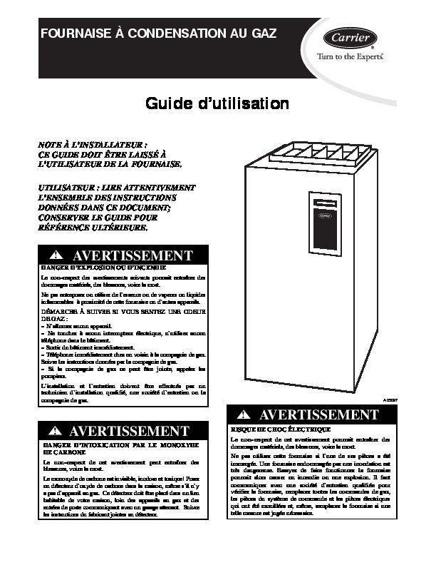 Carrier 58 1 Heat Air Conditioner Manual