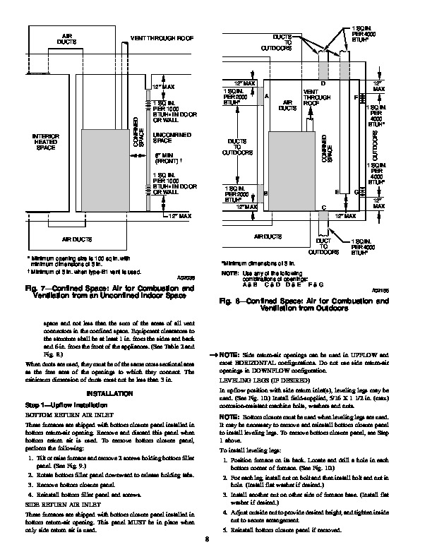 Carrier 58CVA 58CVX 3SI Gas Furnace Owners Manual