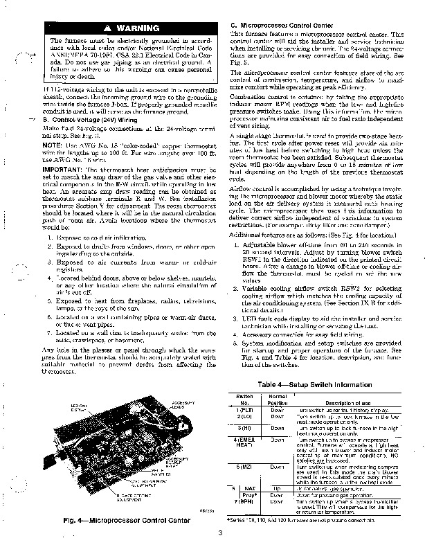 Carrier 58SXB 8SI Gas Furnace Owners Manual
