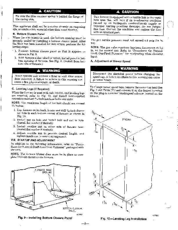 Carrier 58GP 58GS 3SI Gas Furnace Owners Manual