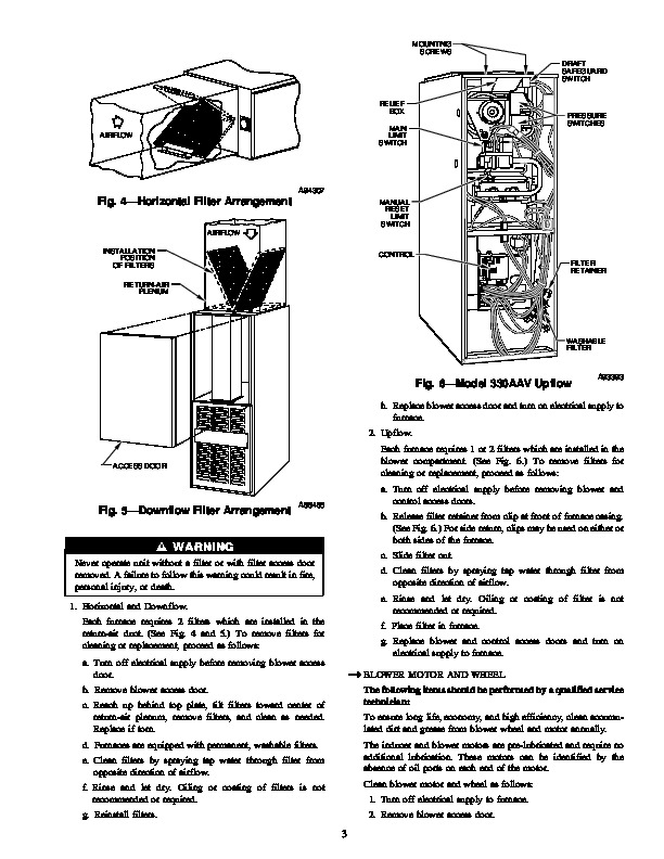 Carrier 58T 5SM Gas Furnace Owners Manual