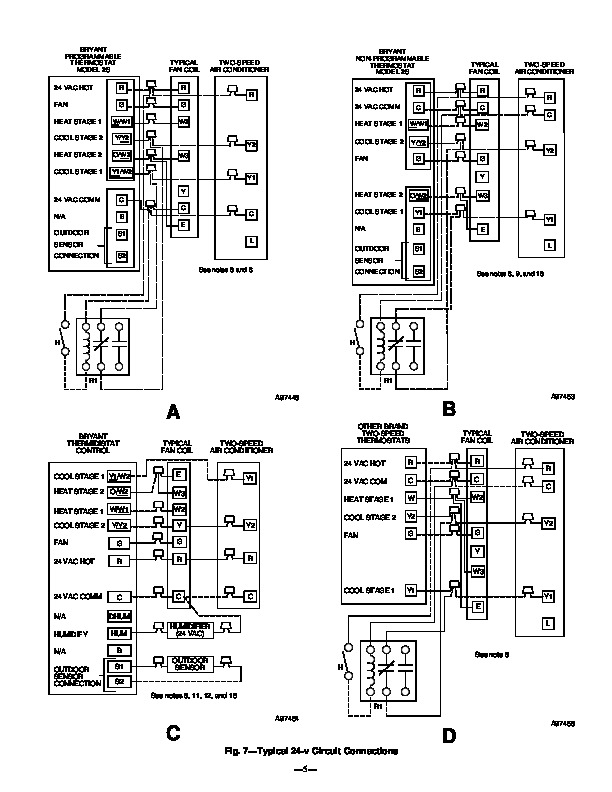 Carrier Bryant 598a 36 7 Heat Air Conditioner Manual