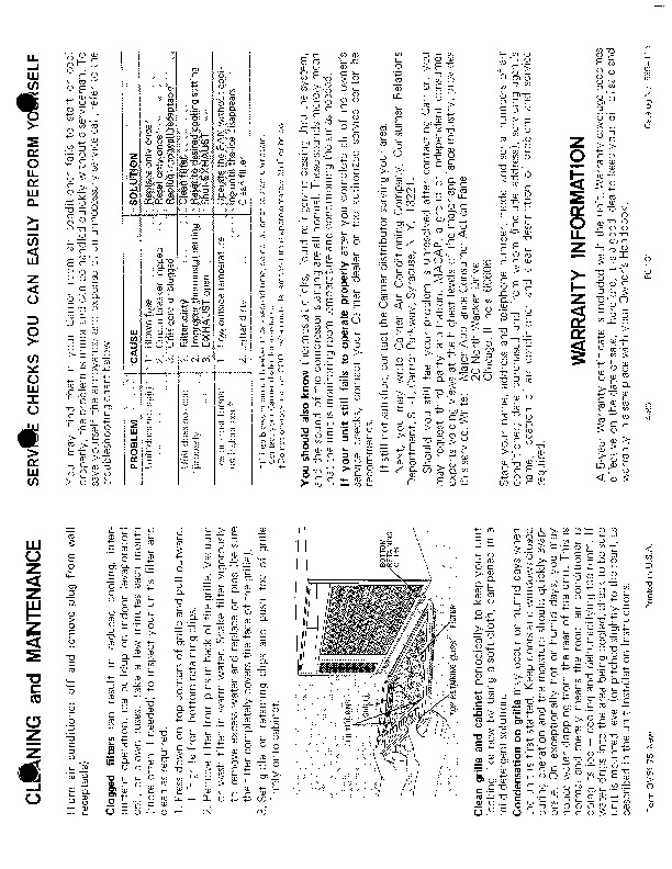 Carrier 51 75 Heat Air Conditioner Manual