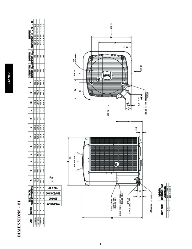 Carrier 24anb7 1pd Heat Air Conditioner Manual
