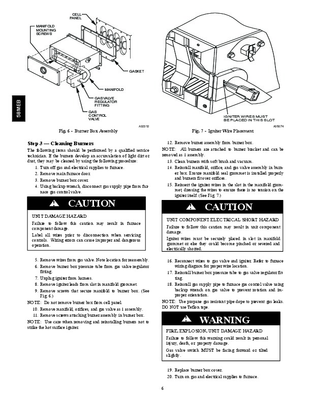Carrier 58MEB 03SM Gas Furnace Owners Manual