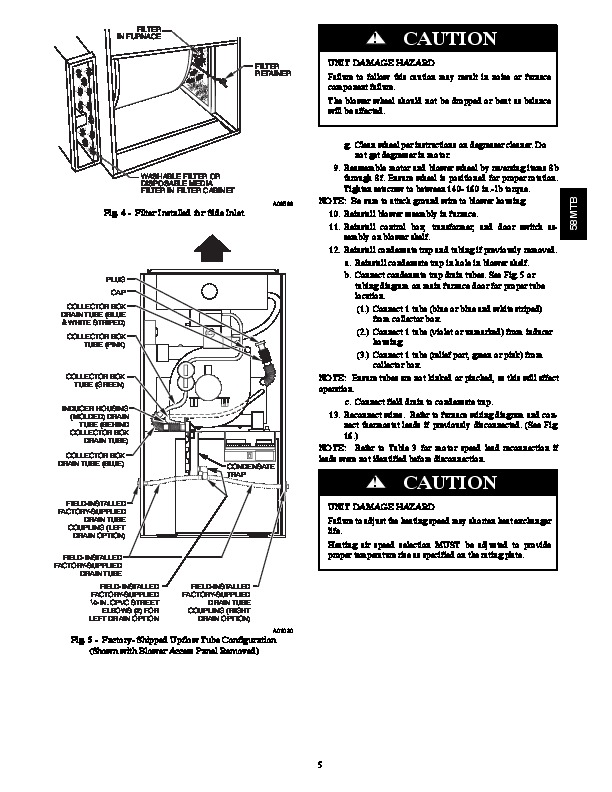 Carrier 58MTB 2SM Gas Furnace Owners Manual
