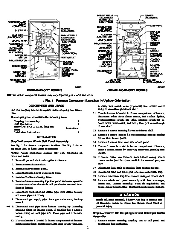 Carrier 58M 79SI Gas Furnace Owners Manual