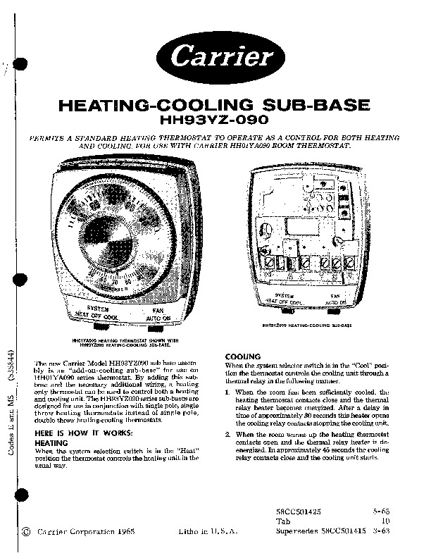Carrier 58CC 501425 Gas Furnace Owners Manual