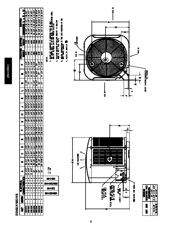 Carrier 25hcr3c 2pd Heat Air Conditioner Manual