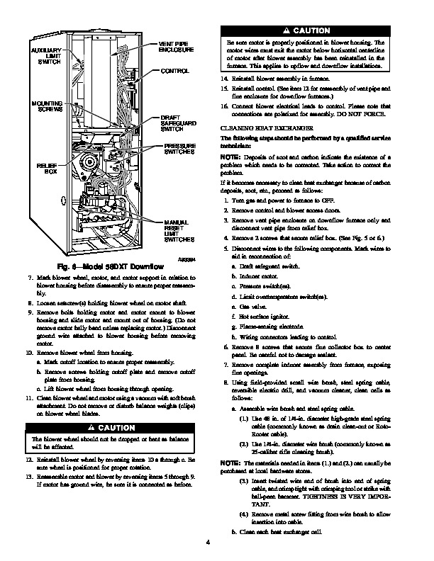 Carrier 58D 58U 4SM Gas Furnace Owners Manual