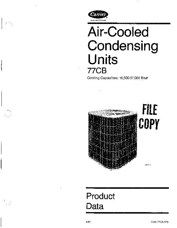 Carrier 77cb 1pd Heat Air Conditioner Manual