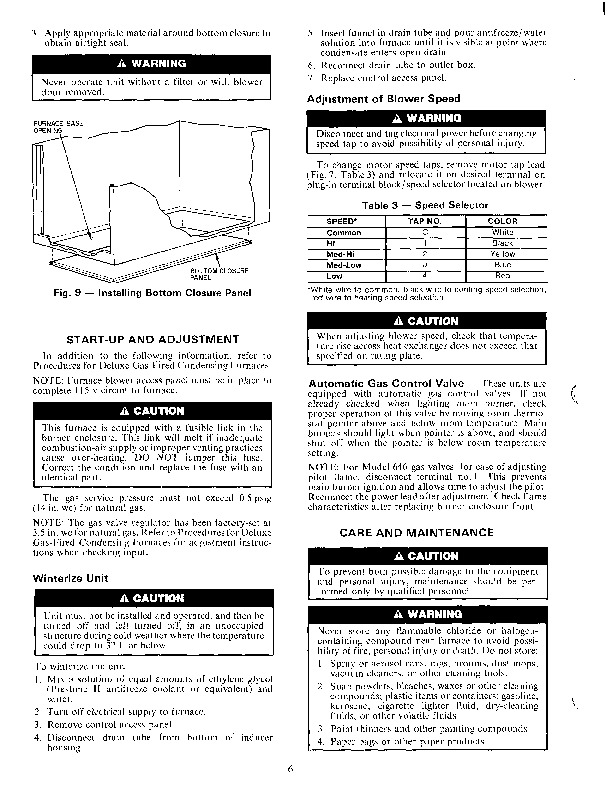 Carrier 58SX 15SI Gas Furnace Owners Manual