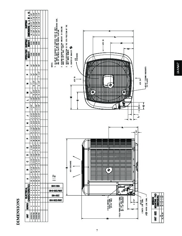 Carrier 24ana7 1pd Heat Air Conditioner Manual