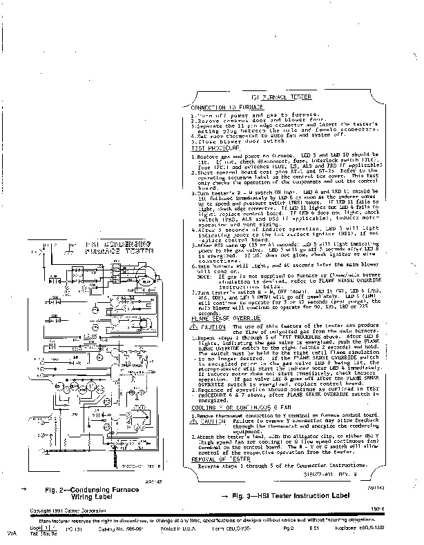 Carrier 58D 58S 23SI Gas Furnace Owners Manual