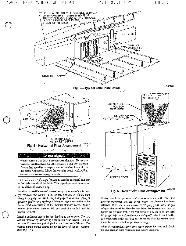 Carrier 58SMA Gas Furnace Owners Manual