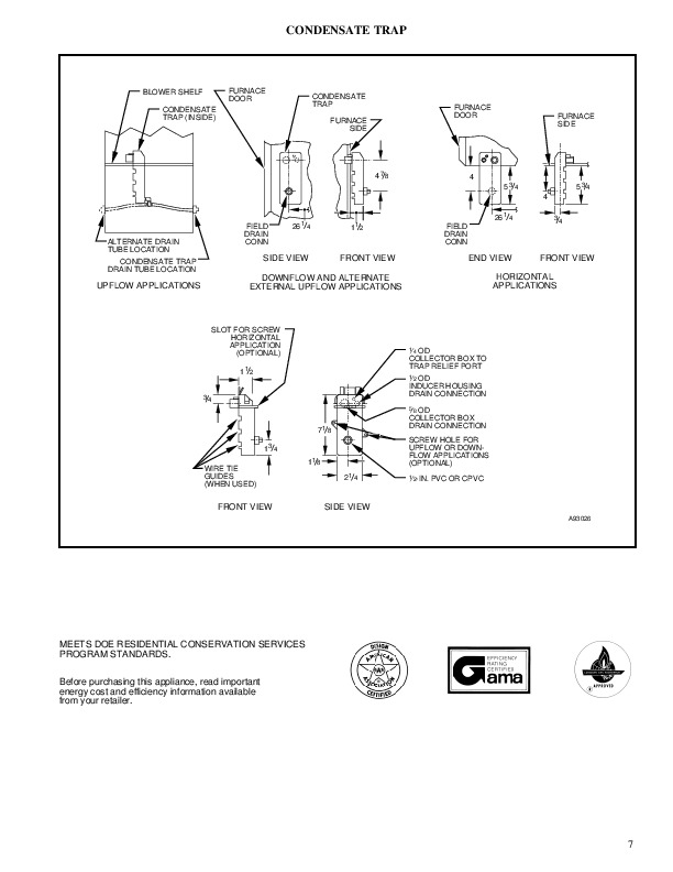 Carrier 58MCA 2PD Gas Furnace Owners Manual