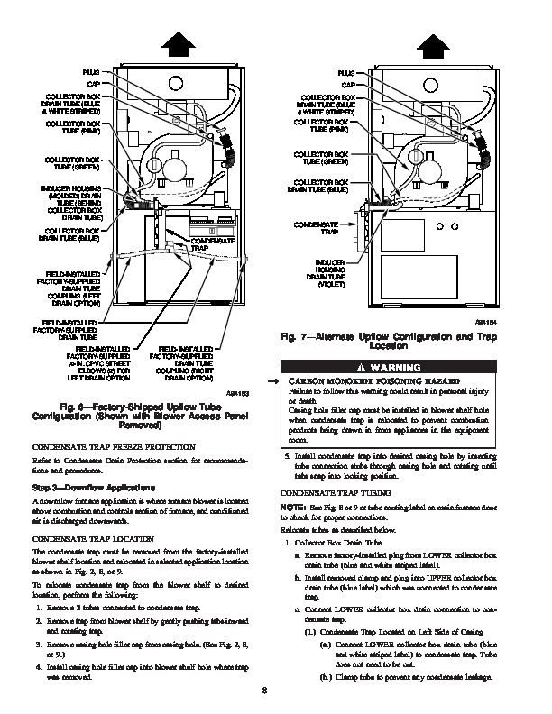 Carrier 58MXA 18SI Gas Furnace Owners Manual