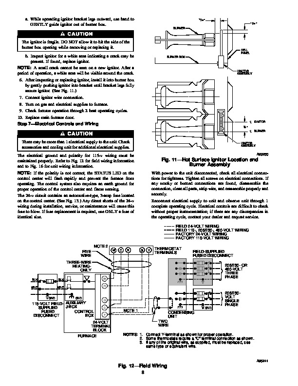 Carrier 58MSA 1SM Gas Furnace Owners Manual
