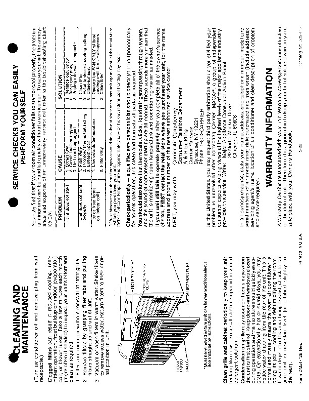 Carrier 51 126 Heat Air Conditioner Manual