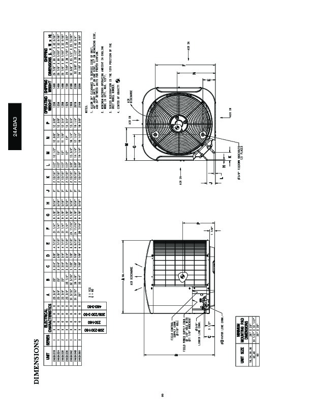 Carrier 24aba3 2pd Heat Air Conditioner Manual