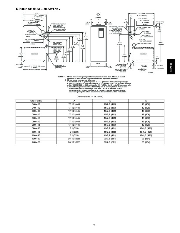 Carrier 58MXB 2PD Gas Furnace Owners Manual