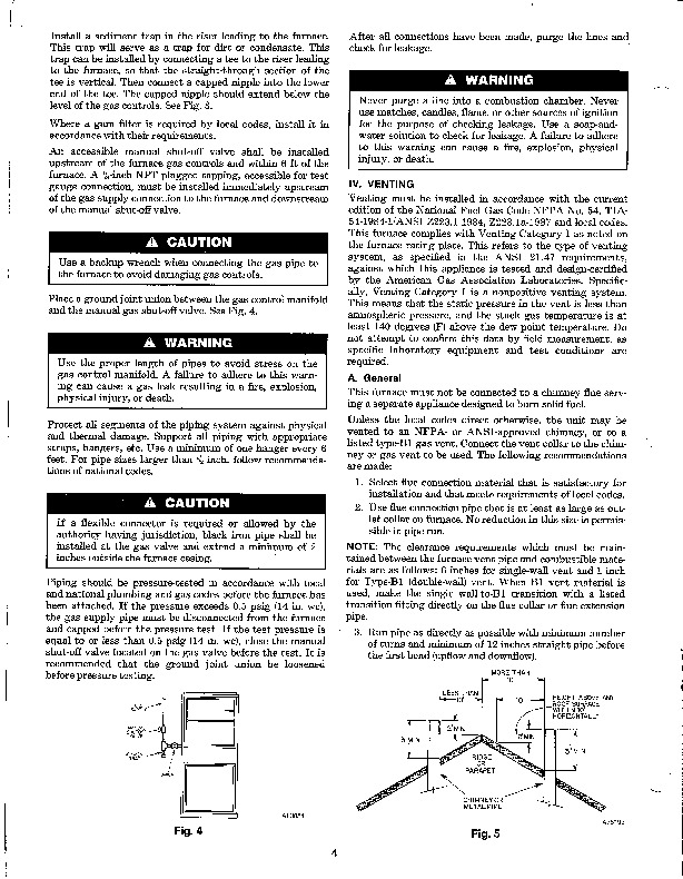 Carrier 58D 58S 6XA Gas Furnace Owners Manual