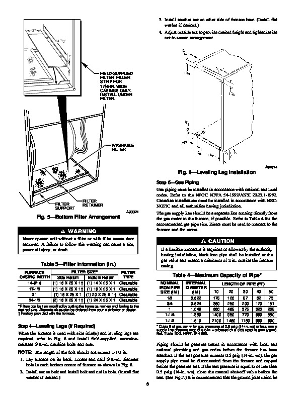 Carrier 58TUA 3SI Gas Furnace Owners Manual