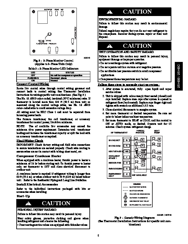 Carrier 25hbb C 3si Heat Air Conditioner Manual