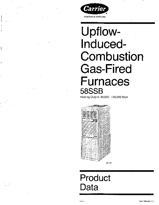 Carrier 58SSB 4PD Gas Furnace Owners Manual