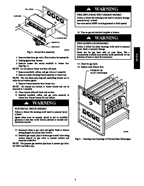 Carrier 58HDX 01SM Gas Furnace Owners Manual