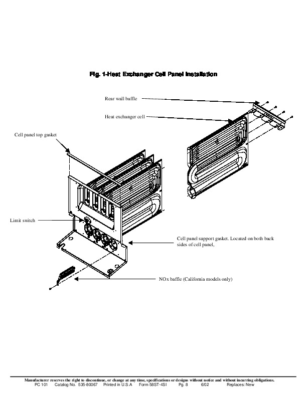 Carrier 58ST 4SI Gas Furnace Owners Manual