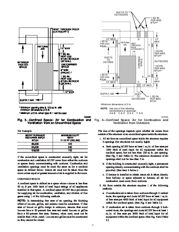 Carrier 58DXT 5SI Gas Furnace Owners Manual