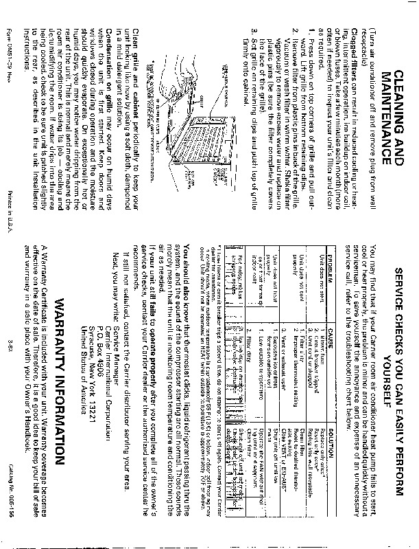 Carrier 51 C9 Heat Air Conditioner Manual