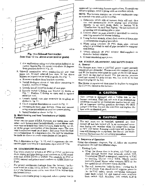 Carrier 58DXA 1SI Gas Furnace Owners Manual