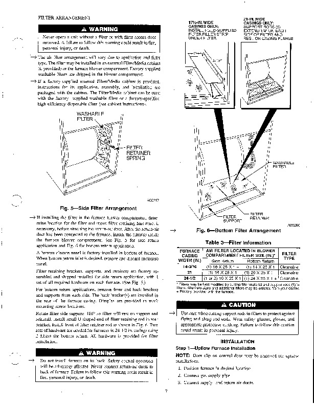 Carrier 58UHV 5SI Gas Furnace Owners Manual