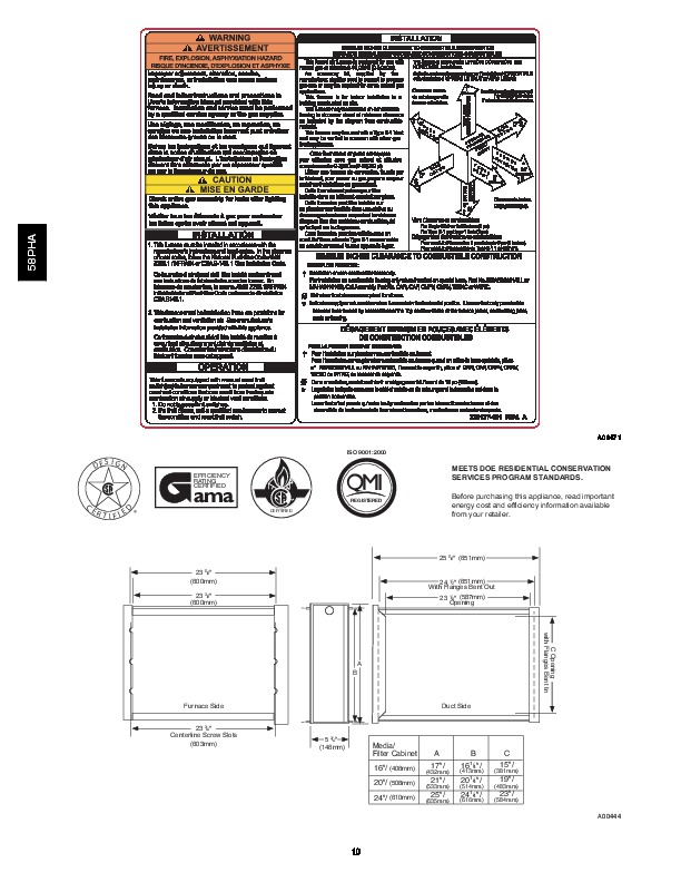Carrier 58PHA 05PD Gas Furnace Owners Manual