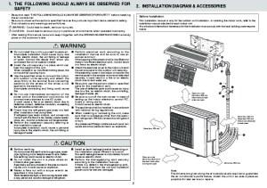 Mitsubishi MXZ 3A54VA MXZ 4A71VA Air Conditioner Installation Manual