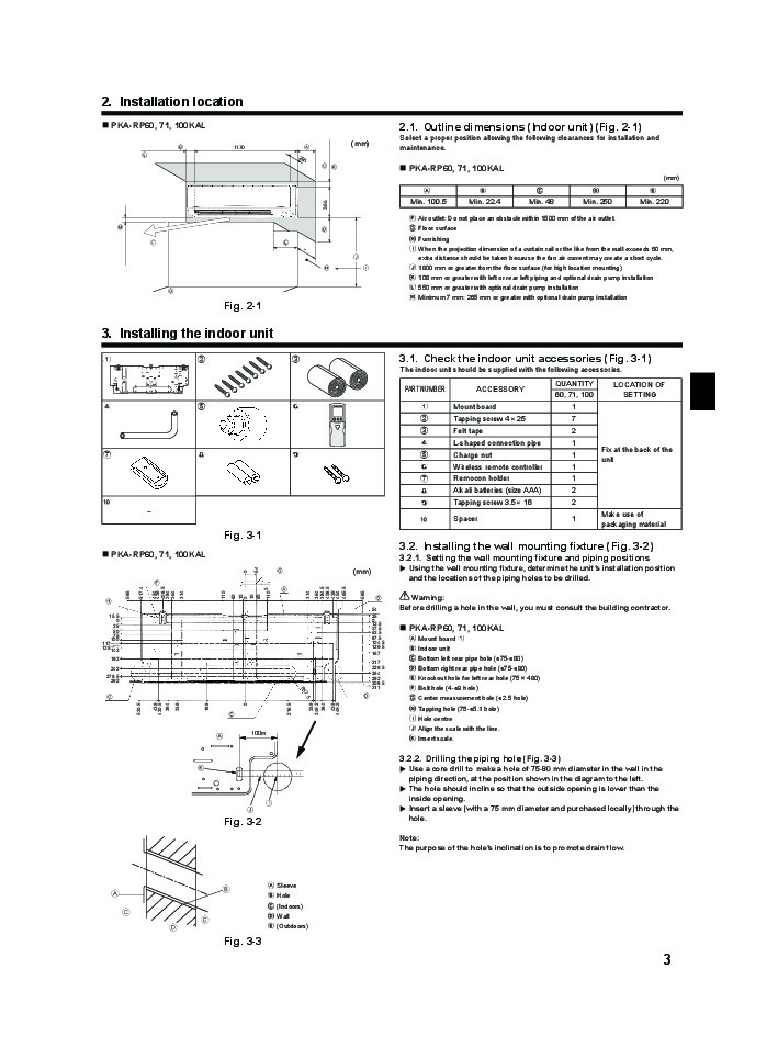 Fujitsu Air Conditioner Installation Instructions