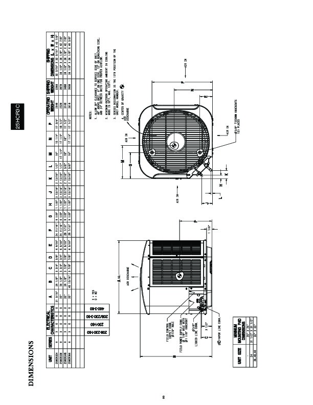 Carrier 25hcr3c 1pd Heat Air Conditioner Manual