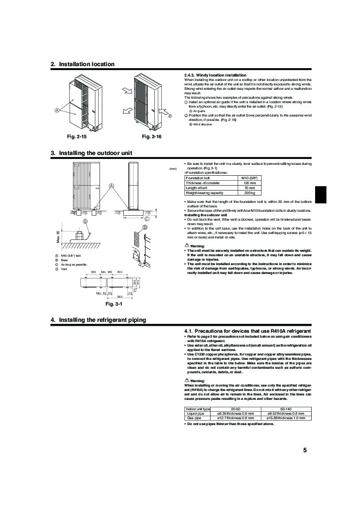 Mitsubishi PUMY P YHM Air Conditioner Installation Manual