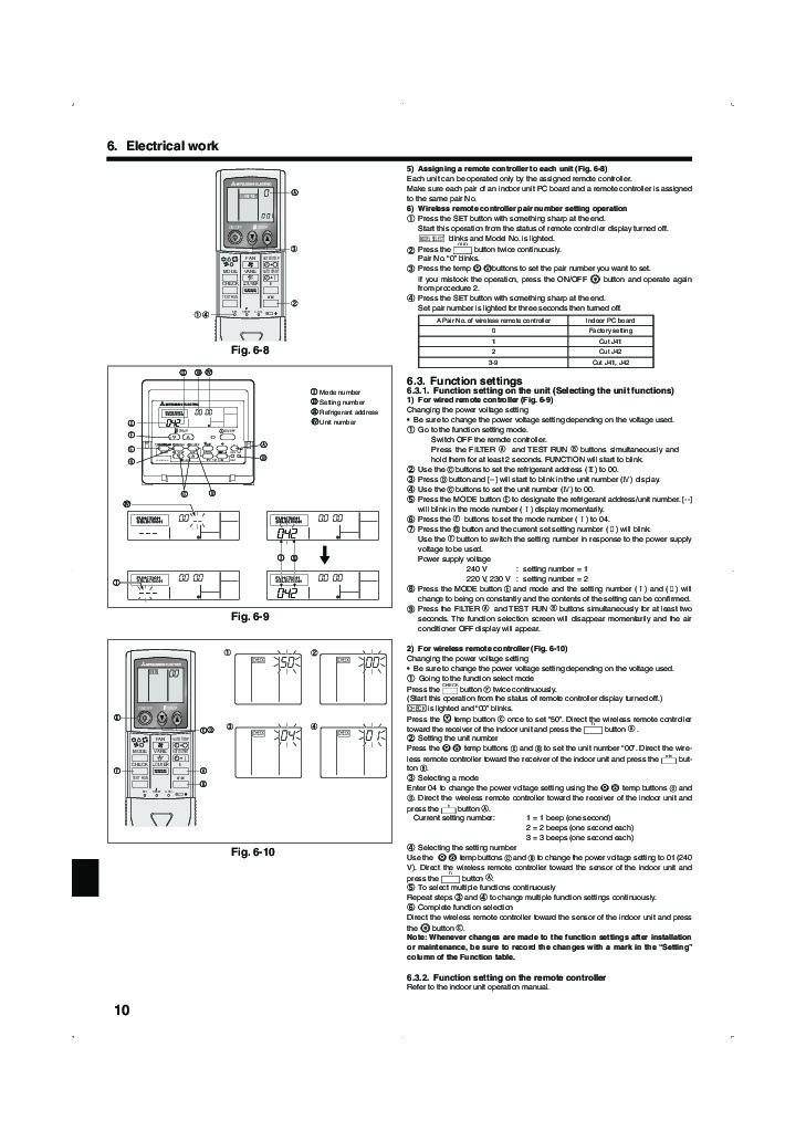 Mitsubishi Mr Slim PLA RP BA IM RG79D251K01 Ceiling
