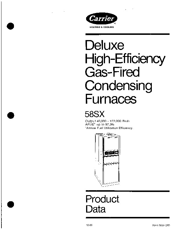 Carrier 58SX 2PD Gas Furnace Owners Manual