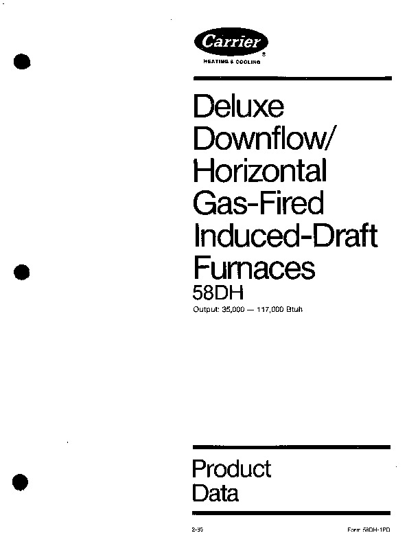 Carrier 58DH 1PD Gas Furnace Owners Manual