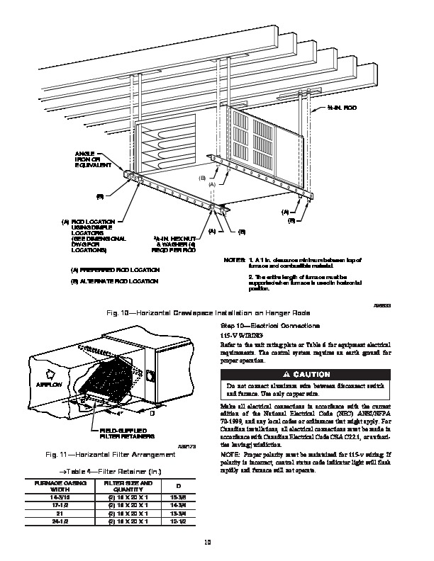 Carrier 58ZAV 12SI Gas Furnace Owners Manual