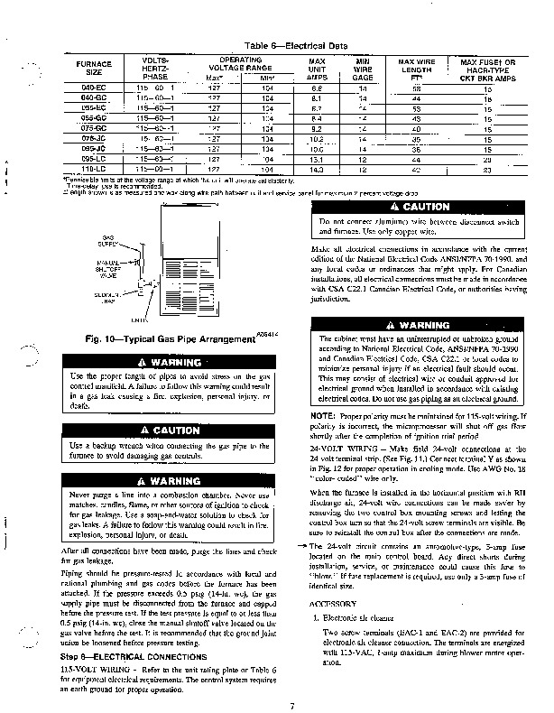 Carrier 58DHC 5SI Gas Furnace Owners Manual