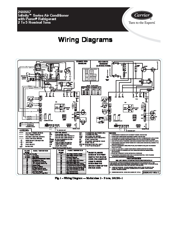 wiring diagram for a carrier air conditioner